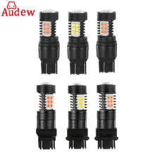 Buy 1Pair Red Yellow T20 7443 w21/5w LED Car Light Brake Lihgt 3030SMD T25 3157 Stop Lamp bulbs Automobiles LED Turn Signal Light for $10.87 in AliExpress store