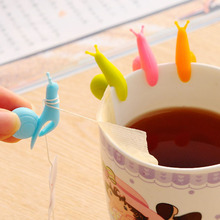 New 1PC Color Random Tea Tool Cup Small Snail Recognizer Device Tea Infuser Cup Of Tea Hanging Bag(China)