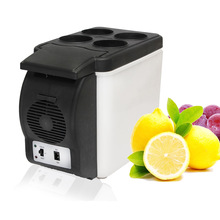 Portable 12V 6L Auto Car Mini Fridge Travel Refrigerator Quality ABS Multi-Function Home Cooler Freezer Warmer