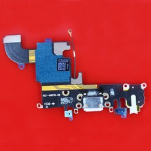 1pcs i6s Charging Port USB Connector Dock Headphone Audio Jack Flex Cable light gray Replacement For iPhone 6S 4.7'' inch WP-013