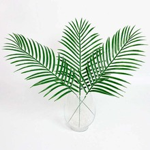 2017 new artificial kwai leaf branch fake palm plants plastic grass flower for home wall garden wedding DIY decoration bulk