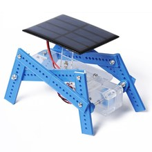 Solar Four-foot Robot 61 DIY Hand-assembled Educational Equipment Handmade Technology Products DIY Robot Kids Chid Children Gift(China)
