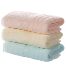 1 Piece!!! New Cotton Solid Bath Towel Beach Towel 3 Colors Blue Pink Yellow For Adults