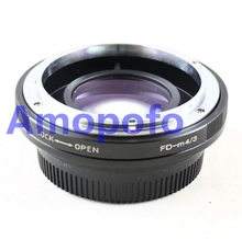 Buy Amopofo FD-M4/3 Focal Reducer Speed Booster Adapter Canon FD mount Lens Olympus M4/3 GH4 GX7 E-PL2, E-PL3, E-PM1. for $80.90 in AliExpress store