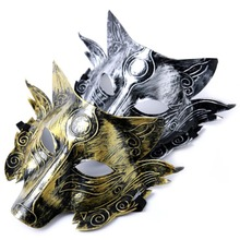 New Halloween Christmas Party Game Wolf Mask Masquerade Horror funny Party Masks Costume Ball Bar Decorations(China)