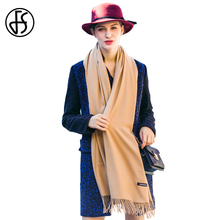 FS Cashmere Scarf Women Winter Warm Luxury Brand Fashion Solid Color Tassel Long Scarves Foulard Shawls Wraps Echarpe Pashmina(China)