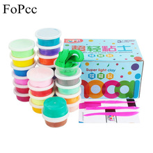 [FoPcc] 12/24/36 Color Polymer Clay Kinetic Sand Plasticine Modelling Toys Creative Intelligent Modeling Clay Light Plasticine