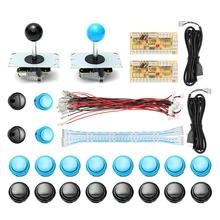 DIY Arcade Joystick Kit Parts USB Encoder Controller PC Joystick With 20 Push Button + Joystick + Cable For Arcade Game Console(China)