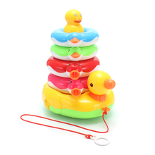 Electronic Toy Intelligent Joy Duck Hand Pull Musical Sound Educational Baby Toys Gifts Preschool Toys For Baby Children(China)