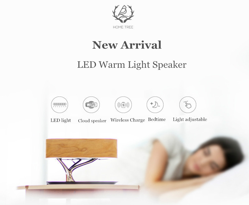 LEORY New Arrival Deluxe Multifunctional Wifi Cloud Bluetooth Speaker Unlimited LED Wireless Speaker Fast Charging for Phone