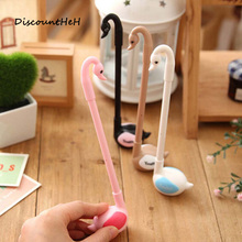 Cute Swan Gel Pens Japanese Korean Stationery Office School Supplies Creative Animal Writing Pen For Girl Kawaii Gift(China)