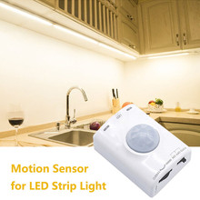 DC 5V PIR Auto Body Motion Sensor LED Night Light USB Powered Cabinet Closet Wall Lamp Intelligent Bedroom Kitchen Home Lighting