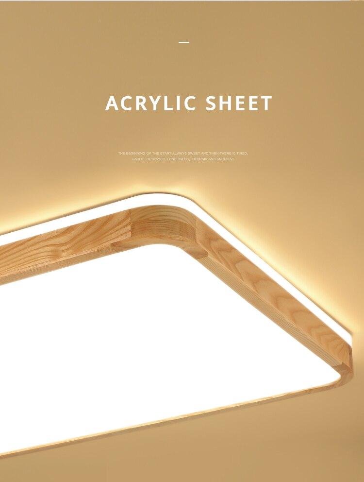 q (14)Ceiling Lights Wood
