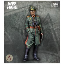 1/35 Resin Figure Model Kit WWII German officer(NO CAR) Unassambled Unpainted(China)