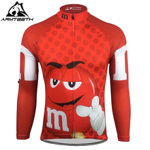 Hot Sale Men Long Sleeve Cycling Jerseys Racing Sport Tops Bicycle Long Sleeve Cycling Clothing Ropa Ciclismo Red(China)