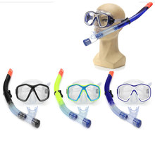 NEW 16 x 8cm 3 Colors Adult PVC Snorkel Combo Mask And Snorkel Set 46.5cm Breath Tube Snorkelling Diving Holiday NEW Arrival