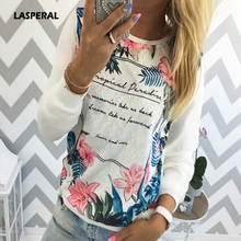 Buy LASPERAL 2017 Women Sweatshirt Floral Vintage Letter Printed Tee Shirt Casual Shirt Long Sleeve Pullovers Top Female Tops Shirts for $5.77 in AliExpress store