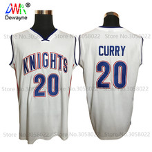 Dwayne Men Youth Stephen Curry Cheap Throwback Basketball Jersey Steph Curry Charlotte Christian Knight High School Retro Shirts(China)
