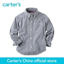 Carter's 1pcs baby children kids Poplin Gingham Button-Front Shirt 243G621,sold by Carter's China official store