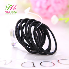 100 Pcs High Quality Kids Elastic Hair Bands Elastic Hair Tie Children Rubber black Hair Band(China)
