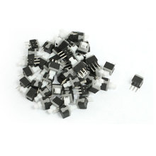 UXCELL 50 Pcs Latching Contat Type Mini Push Button Switches 5.8Mm X 5.8Mm latching