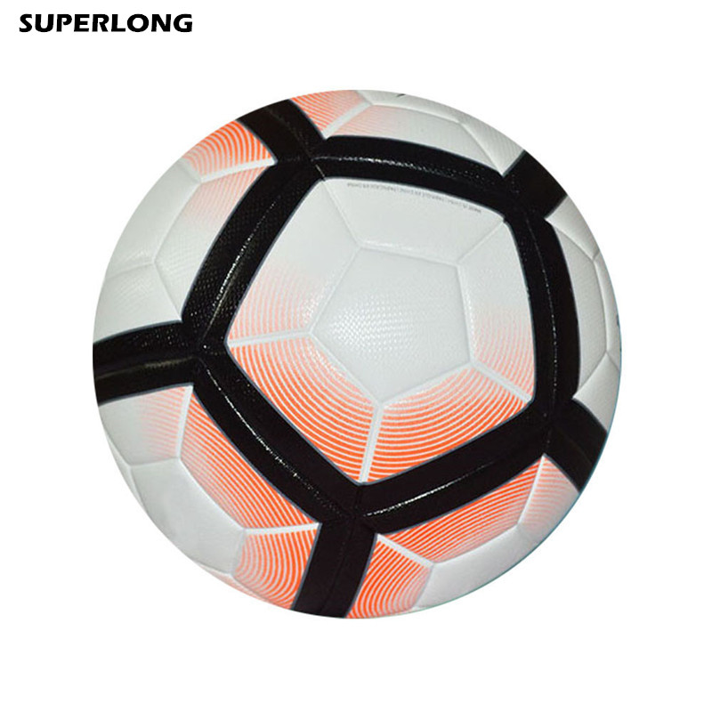 NEW Arrival genuine seamless professional soccer ball standard Size 5 PU leather training football ball(China)
