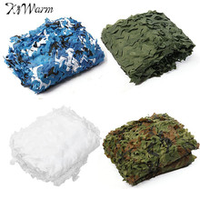 KiWarm 5x2.5M Outdoor Camo Net Military Camouflage Netting Mesh Games Hide Camouflage Net Hunting Camping Car Cover 4 Colors