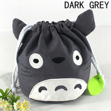 Animal Drawstring Coin Purse Japanese Anime Plush Stuffed Purse For Baby Kids Children Soft Gift(China)