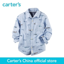 Carter's 1pcs baby children kids Oxford Airplane Button-Front Shirt 243G883,sold by Carter's China official store