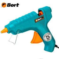 Пистолет клеевой Bort BEK-18 (мощность 18 Вт, диаметр стержней 11 мм, нагрев за 3-5 минут, 2 стержня в комплекте)