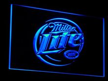 a016 Miller Lite Beer LED Neon Sign with On/Off Switch 7 Colors 4 Sizes to choose