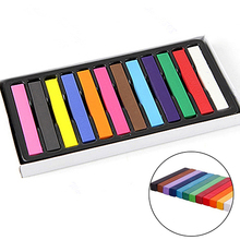 Professional 12 Colors Fast Temporary Pastel Hair DIY Salon Painting Extension Dye Chalk(China)