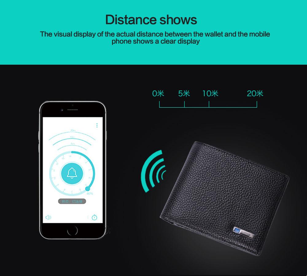 محفظة جلدية ذكية مضادة للضياع مع جهاز تتبع مربوط بالهاتف عبر البلوتوث 8