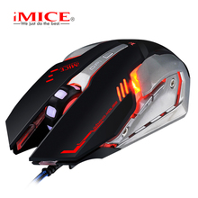 iMICE V8 Wired Gaming Mouse 6 Buttons Optical Professional Mouse Gamer Computer Mice For PC Laptop(China)