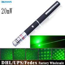 (Wholesale) 50pcs/lot 20mW Handheld Green Laser Pointer Starry Laser Pointer
