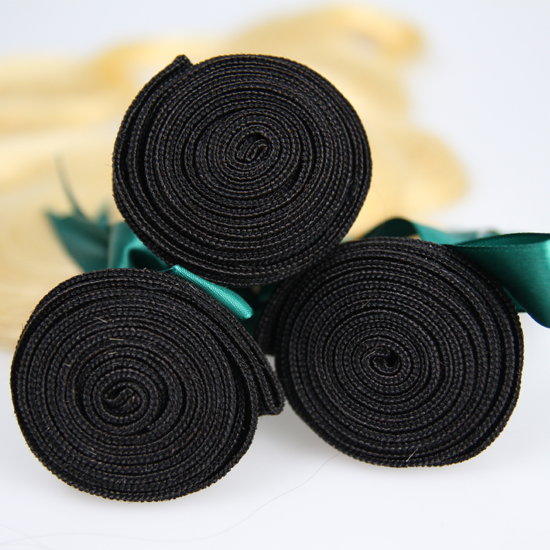 Brazilian human remy hair1B 613 3 bundles body wave