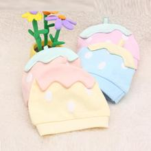 Baby Infant Cap Cotton Cute Strawberry Pattern Dot All Season Beanie Cap Knitted Hat #2415