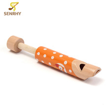 SENRHY Wooden Wind Instrument Music Enlightenment Baby Early Childhood Educational Cartoon Drawing Whistle Toys Hot Sale