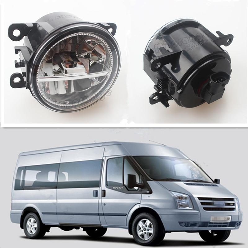 For FORD TRANSIT Platform Chassis 2006-2015 Car Styling Front Bumper LED Fog Lights High Brightness Fog Lamps 1 Set<br>