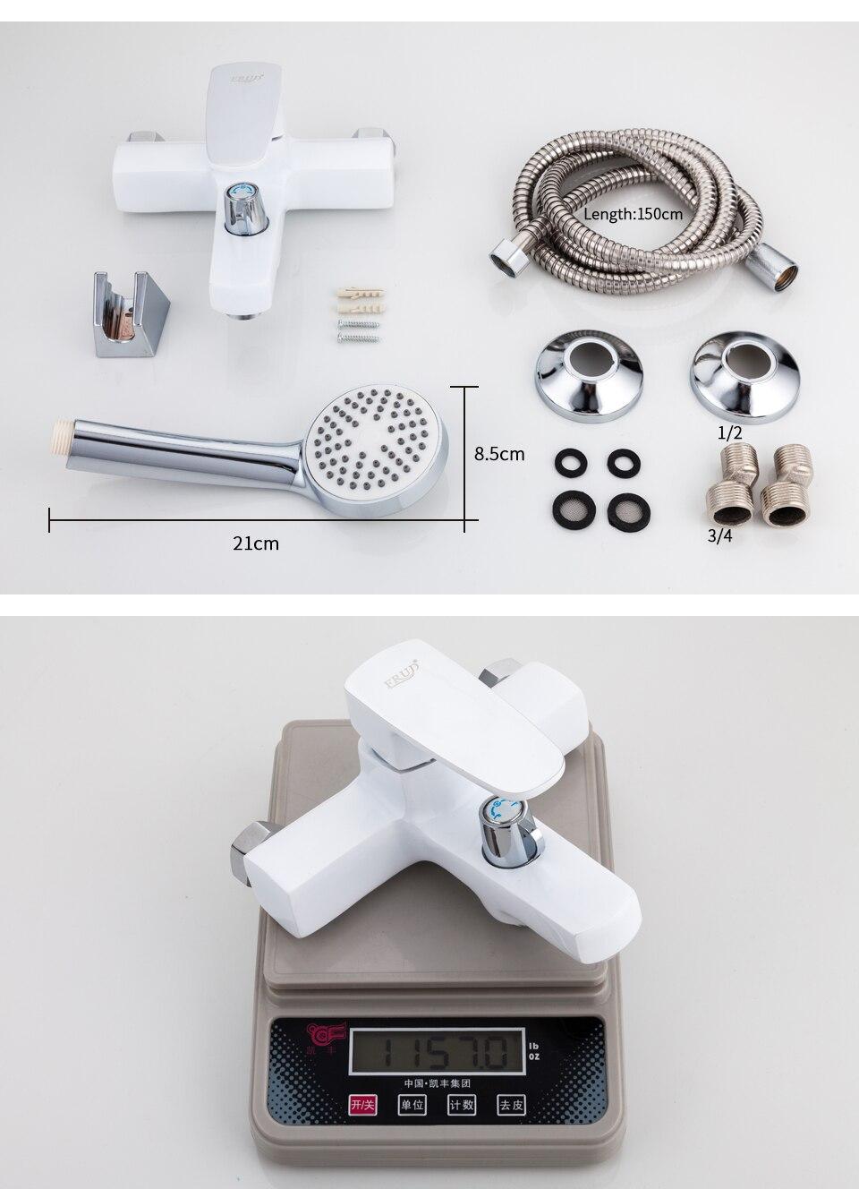 White bathroom sink faucet 11