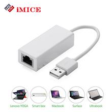 iMICE USB Ethernet Adapter Usb 2.0 Network Card USB to Ethernet RJ45 Lan Gigabit Internet for Windows 7/8/10 USB With Drive(China)