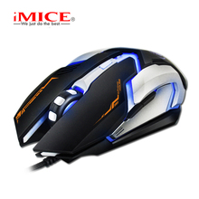 iMICE Wired Gaming Mouse USB Optical Mouse 6 Button V6 2400DPI Computer Pc Mouse for CS DOTA LOL Gamer Professional Gaming Mice(China)
