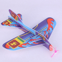 TOYZHIJIA New Arrival 1Pc 18.5*19 cm Stretch Flying Glider Planes Aeroplane Children Kids Toys Game Random Color(China)