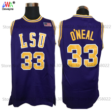 2017 Men Dwayne Shaquille O'neal Cheap Throwback Basketball Jersey Shaq Oneal #33 LSU Tigers College Jerseys Retro Shirts(China)
