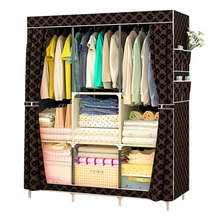 Folding Portable Cabinet DIY Non-Woven Wardrobe Cabinets Bedroom Furniture Dustproof Storage Cabinet Wardrobe Closet(China)