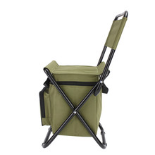 Portable 28 x 29 x 60cm Fishing Chair With Storage Cool Bag Polyester Chairs Stool With Steel Pipe Frame Outdoor Sports Tool(China)