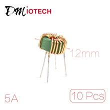 UXCELL 10 Pcs Toroid Core Common Mode Inductor Choke 800Uh-1Mh 40Mohm 5A Coil(China)