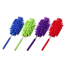 1pcs High Quality Magic Soft Microfiber Duster Dust Cleaner Handle Feather Static Extendable Length  Cleaning Tool 4 colors
