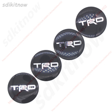 4pcs TRD Sports Car Wheel Hub Caps Cover Rim Sticker Badge Decoration Styling For Toyota Corolla RAV4 YARIS CAMRY CROWN CRUISER(China)