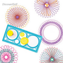 1pcs Spirograph Geometric Ruler Learning Drawing Tool Stationery for Student Drawing Set Creative Gift Color Random(China)